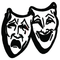 Theater Mask Comedy Theatre Decal Sticker Style 10