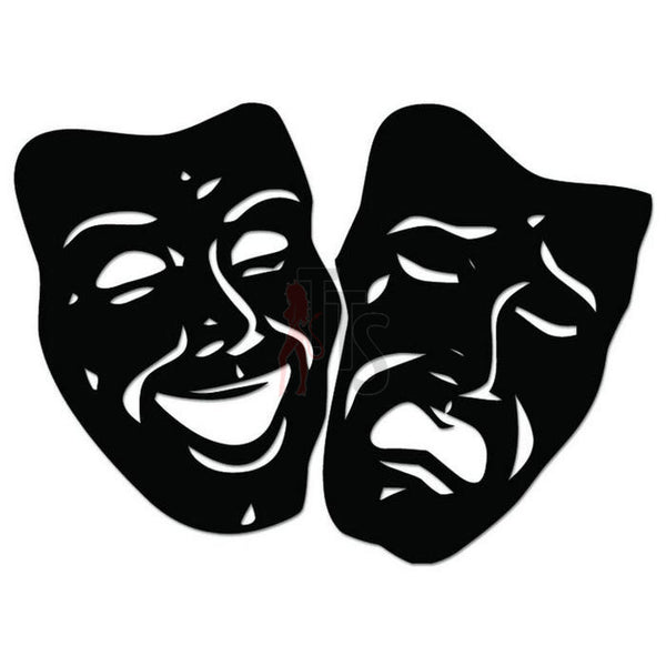 Theater Mask Comedy Theatre Decal Sticker Style 12