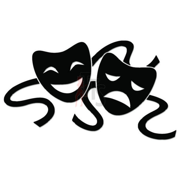 Theater Mask Comedy Theatre Decal Sticker Style 13