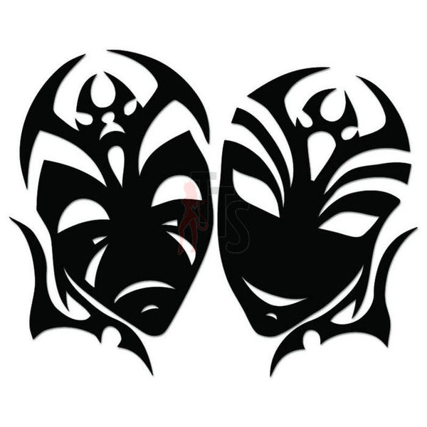 Theater Mask Comedy Theatre Decal Sticker Style 7