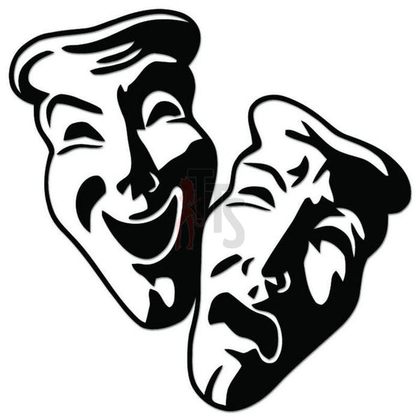 Theater Mask Comedy Theatre Decal Sticker Style 15