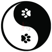 Ying Yang Dog Paws Decal Sticker