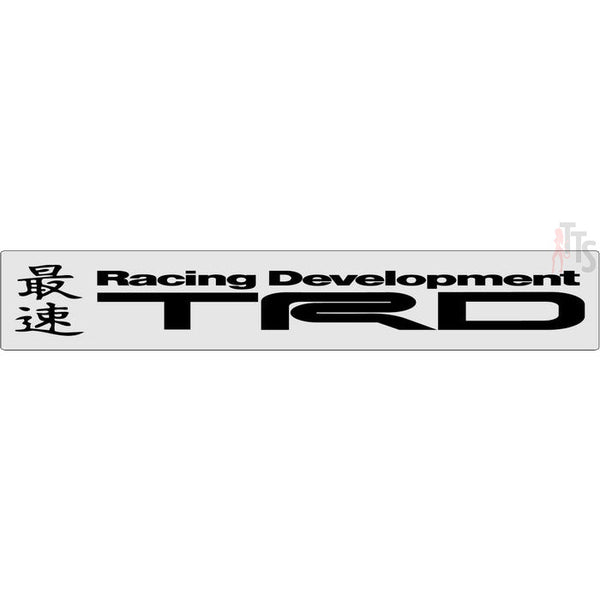 Trd Racing Development Windshield Banner Decal Sticker