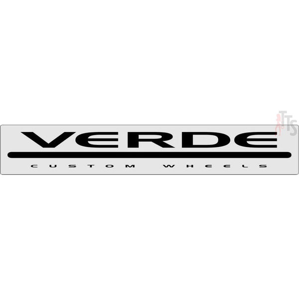 Verde Racing Wheels Windshield Banner Decal Sticker