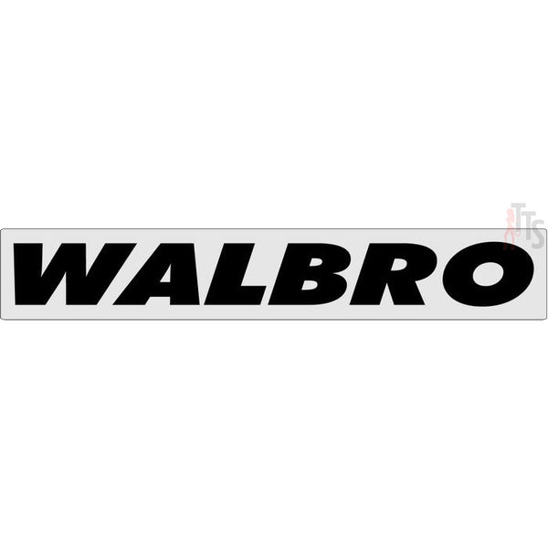 Walbro Windshield Banner Decal Sticker