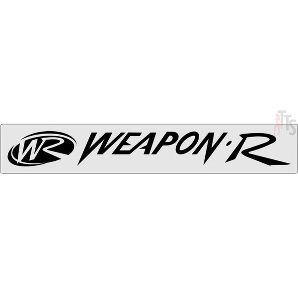 Weapon R Windshield Banner Decal Sticker