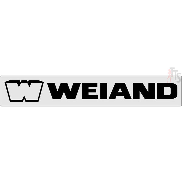 Weiand Windshield Banner Decal Sticker