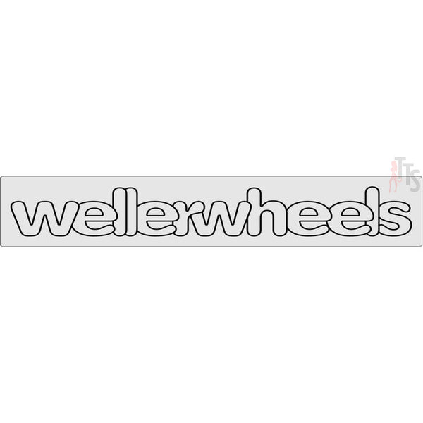 Weller Wheels Windshield Banner Decal Sticker