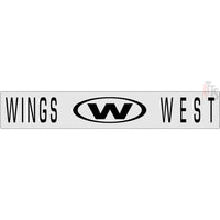 Wings West Windshield Banner Decal Sticker