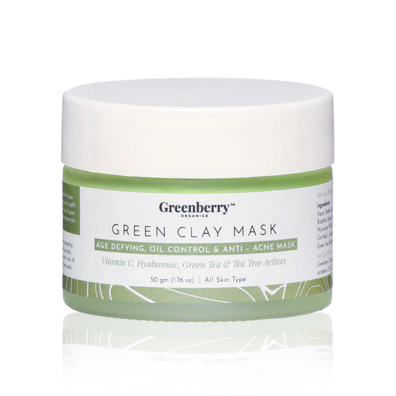 Brazilian Rainforest Green Clay Mask Skin Clarifying, All Skin Types, 50 Grams.