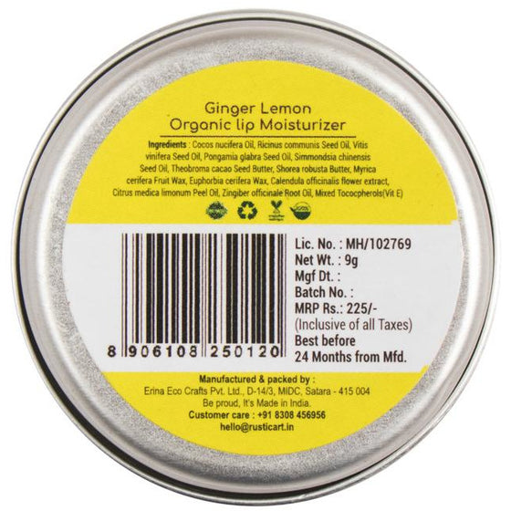Rustic Art Ginger Lemon Lip Moisturizer.