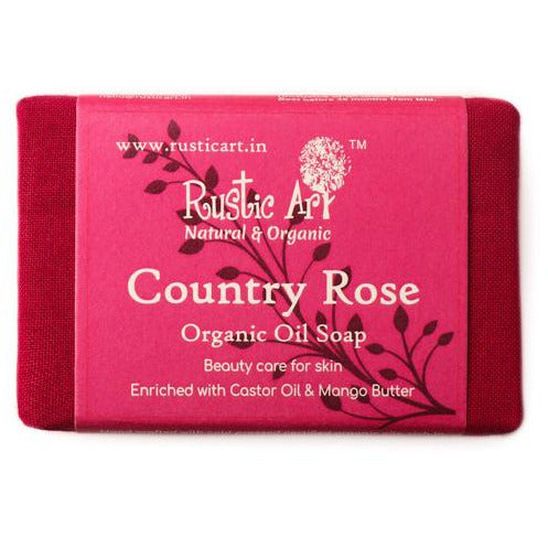 Organic Country Rose Soap By.