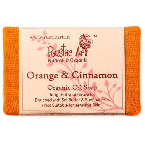 Organic Orange & Cinnamon Soap.