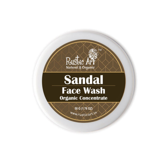 Rustic Art Organic Sandal Face Wash Concentrate.