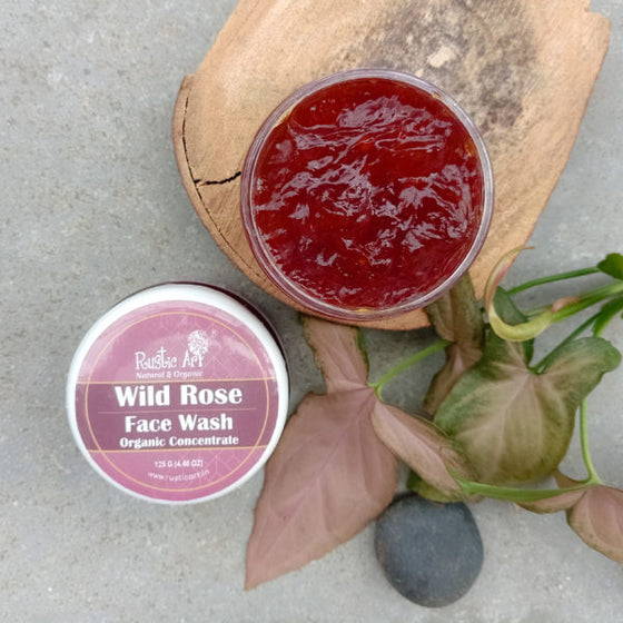 Rustic Art Organic Wild Rose Face Wash Concentrate.