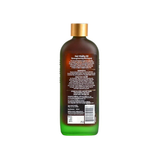 Organic Hair Vitality Oil Bhringaraj 120 ml