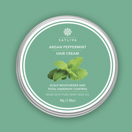 Argan Peppermint Hair Cream (40G) by SATLIVA.