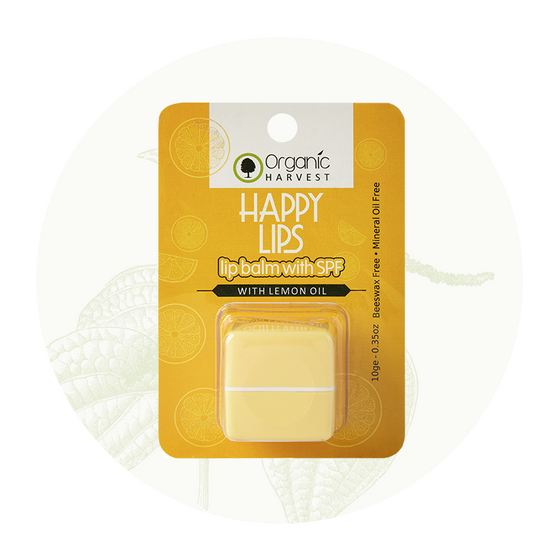 Organic Harvest Lip Balm with SPF(Lemon), 10gm.