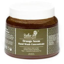 Rustic Art Organic Orange Neem Hand Wash Concentrate.