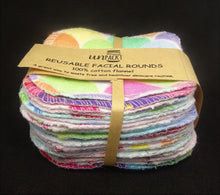 Load image into Gallery viewer, Unpackt Reusable Facial Rounds - Cotton Flannel 20pc