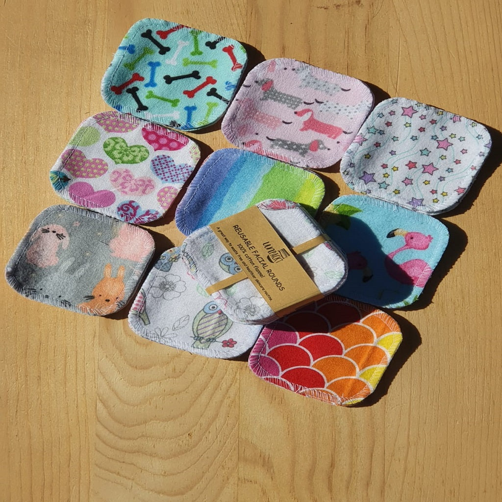 Unpackt Reusable Facial Rounds - Cotton Flannel 20pc