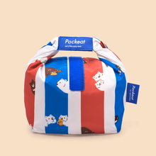 Load image into Gallery viewer, Pockeat Food Bag | Bear In Hong Kong 白白紅白藍