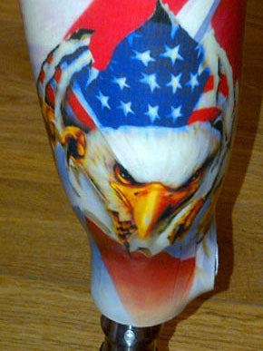 military laminated prosthetic cover