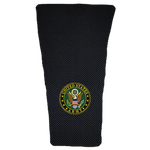 Army on Black Carbon Prosthetic Suspension Sleeve Cover