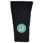 Coast Guard on Black Carbon Prosthetic Suspension Sleeve Cover