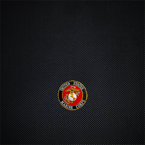 Marines on Black Carbon Laminating Sleeve