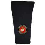 Marines on Black Carbon Prosthetic Suspension Sleeve Cover
