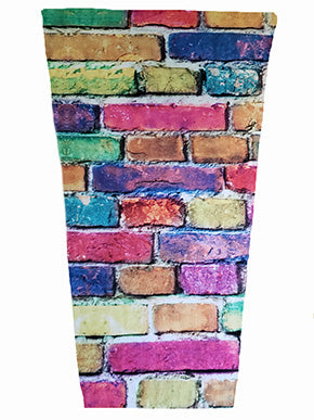 colorful bricks prosthetic suspension sleeve cover