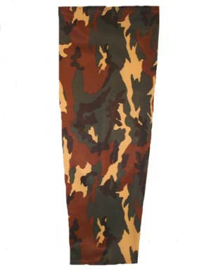 green camouflage prosthetic suspension sleeve cover
