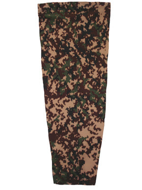 digital green camouflage prosthetic suspension sleeve cover
