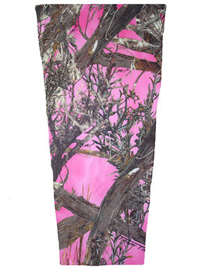 pink timber camouflage prosthetic suspension sleeve cover