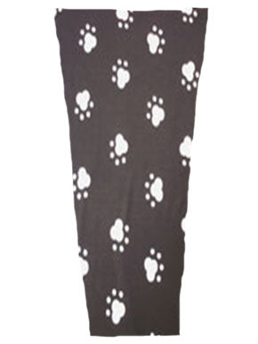 paw prints black prosthetic suspension sleeve cover