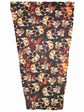 skull fire prosthetic suspension sleeve cover