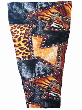 tuff animal print prosthetic suspension sleeve cover