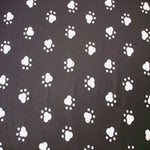 black and white paw prints prosthetic laminating sleeve