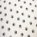 White Black Paw Prints Prosthetic Laminating Sleeve