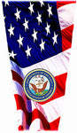 Navy on Flag Laminating Sleeve