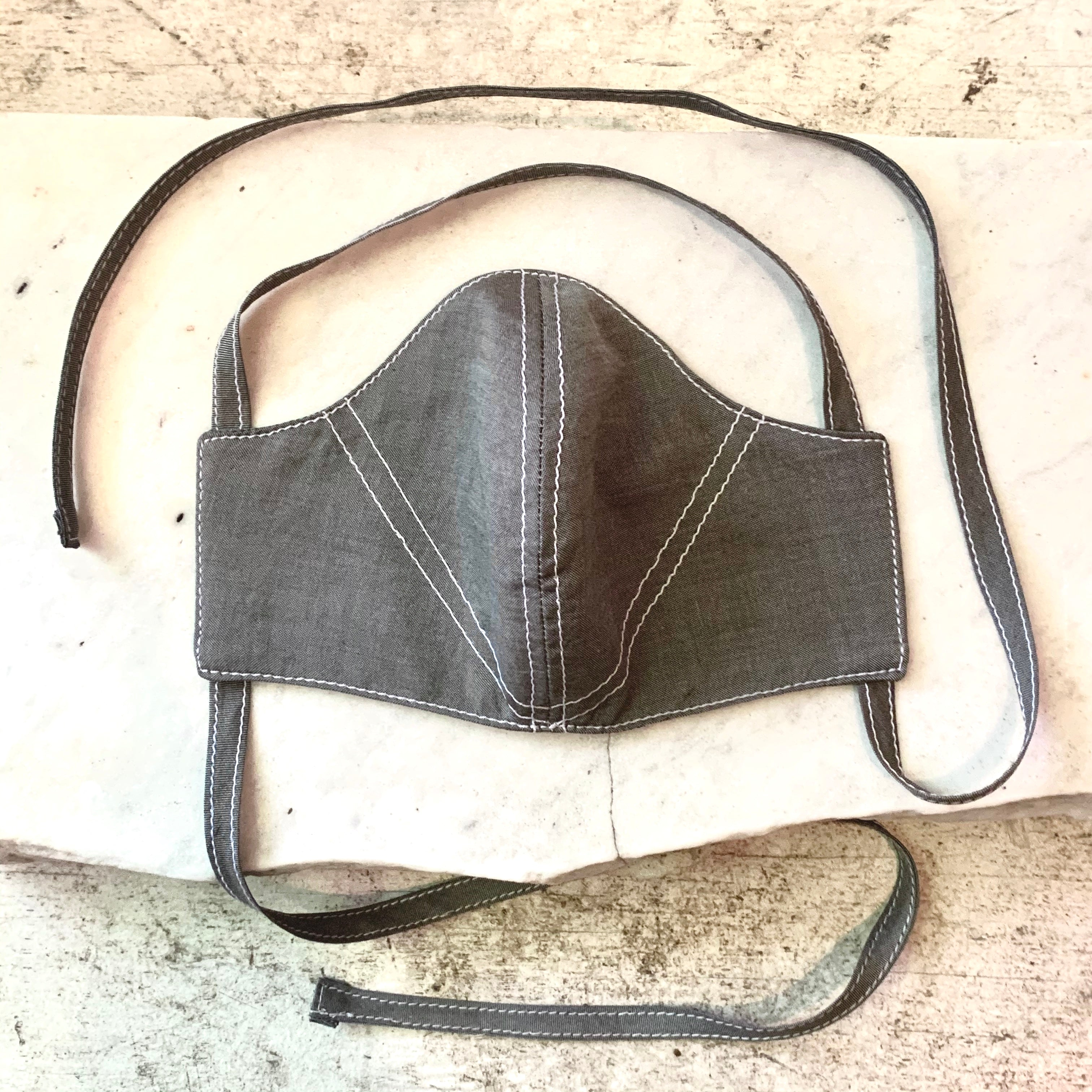 GRAPHITE Gray Cotton Chambray Mask