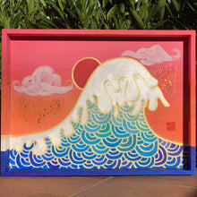 Load image into Gallery viewer, midnight sun - hand painted tray