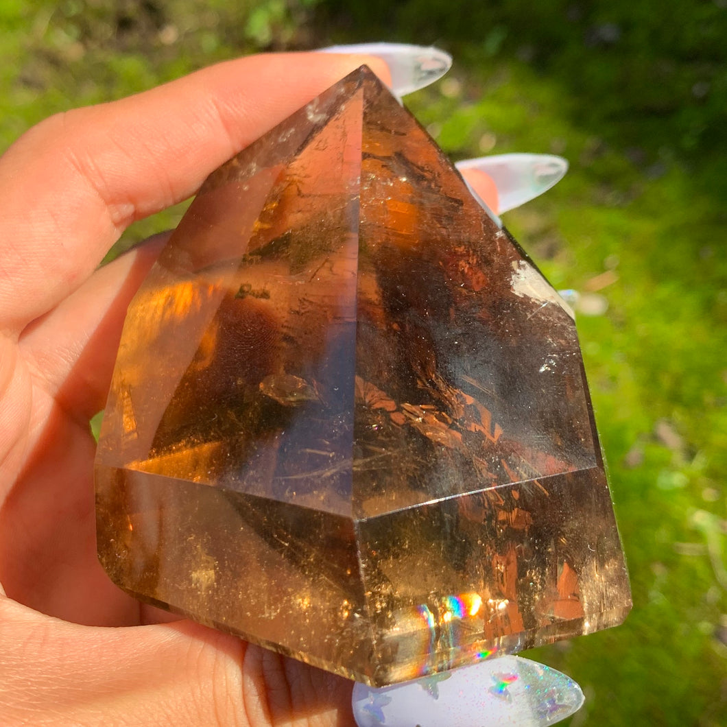 chunky smoky quartz tower