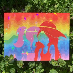 adventure pride - holographic mini print