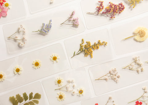 Page Petal Hand Pressed Bookmarks