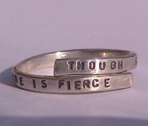 Shakespeare quote ring