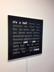 450 x 450mm Word Clock with Acrylic Glass Face