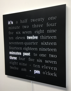 450 x 450mm Word Clock with Powder Coated Steel Face