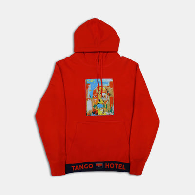 Wearable Art Tango Hotel Self Portrait Red Hoodie